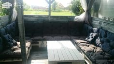 Large Pallet Sectional Sofa Set – Perfect For Parties Pallet Sofas & Couches