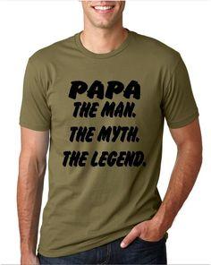 PAPA the man the myth the legend shirt detroit speed factory designed  Papa shirt custom made grandpa ,pawpaw ,dad whatever you like by DetroitSpeedFactory on Etsy
