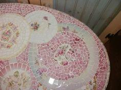 Mosaïque ovale de minuscules bulles Chine par lookinglassmosaics