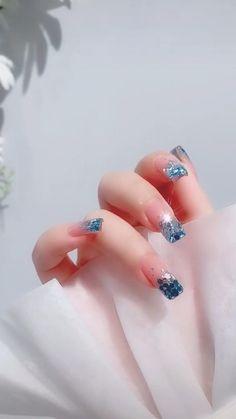Cute Nail Art, Beautiful Nail Art, Cute Nails, Beautiful Hijab, Fancy Nails Designs, Nail Art Designs, Asian Nails, Best Acrylic Nails, Nail Arts