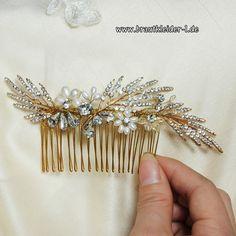 Kristall-Perlen Braut Haarschmuck 2 Teilig