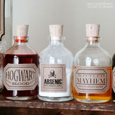 lots of FREE printable apothecary jar labels {pen n' paperflowers}