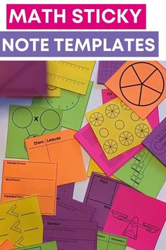 Over 125 math sticky note templates! These templates are perfect to use as an exit ticket, in math interactive notebooks, an assessment or a way to keep your students focused during a math lesson. These are super easy to print and students will think it's fun to use sticky notes! Notes Template, Templates, Math Tools, Formative Assessment, 5th Grade Math, Student Reading, Help Teaching, Your Teacher, Upper Elementary