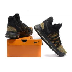 284f6b315a03 Nike kevin durant kd 10 basketball shoes Black Brown