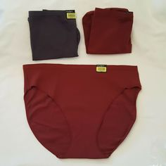 63cb527ed539 3 Modern Movement Panties XXL 1 Brief 2 Hi Cut Pomegranate Red Periscope  Gray #ModernMovement