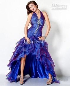 LOVE this dress, blue and violet together are perfect