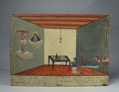 Mexican Ex-Voto Painting 1853