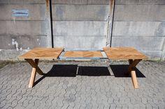Håndbygget sildebensbord med udtræk - Smalltime Woodshop Kitchen Cabinet Molding, Kitchen Cabinets, Outdoor Furniture, Outdoor Decor, Sun Lounger, Dining, Inspiration, Home Decor, Dining Table