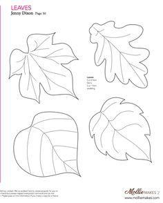 Mollie makes, Felt Leaf Template                                                                                                                                                      More