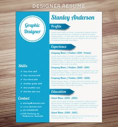 design, job application, layout, wood, white, blue,