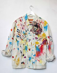 Hand Painted & Embroidered Denim Jacket