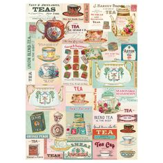 Tea Around The World Wrapping Paper | Vintage Style Gift Wrap | RetroPlanet.com This decorative gift wrap adds vintage style to any special event. Wonderful ephemera for holidays, birthdays, scrapbooks, crafts, and more. Includes 1 sheet. Made of high quality Italian paper stock. Sheet measures 20W x 28H inches.