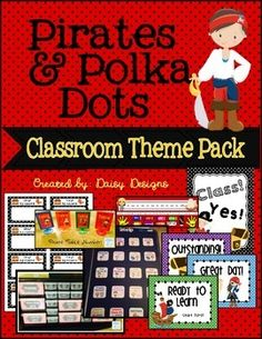 Pirates and Polka Dots Classroom Theme Pack