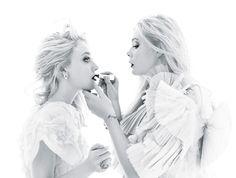 Dakota Fanning, Elle Fanning Photographed by Mario Sorrenti for W magazine December 2011