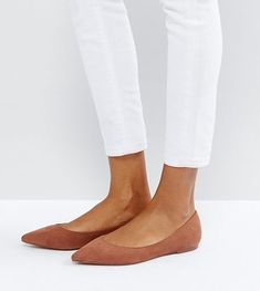 LATCH Pointed Ballet Flats by Asos. Flat shoes by ASOS Collection, Textile upper, Slip-on style, Pointed toe, Flat sole, Wipe with a damp cloth, 100% Textile Upper. Score a wardrobe win no matter the dress code with our ASOS Collection own-label collection. From polished p... #asos #nudeshoes