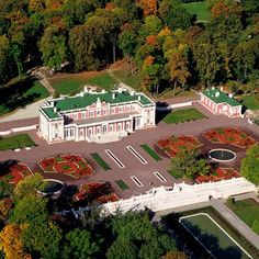 Aerial view of Kadriorg Palace built in 1718 by Russian tsar Peter I