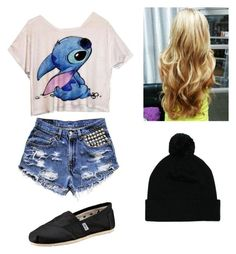 """""""Teen Outfit #95"""" by red-lips-crystal-skies ❤ liked on Polyvore featuring TOMS and Mr Simple"""