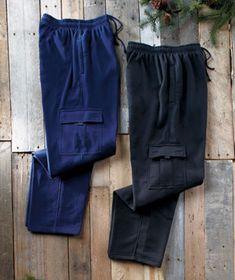 Men's 2-Pk. Fleece Cargo Pants