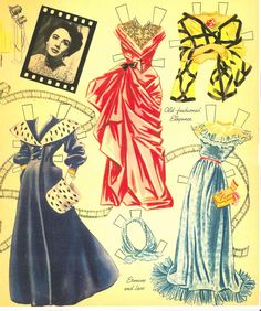 Elizabeth Taylor paper doll clothes / eBay