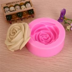 3D Rose Silicone Fondant Cake Mold Chocolate Clay Soap Mould