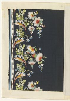 Embroidery Sample (France), ca. 1790 | Objects | Collection of Cooper Hewitt, Smithsonian Design Museum