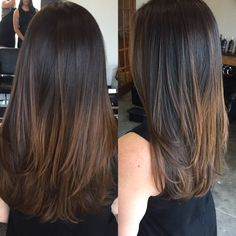 30 Ideas for hair balayage lacio highlights Brown Ombre Hair, Brown Hair Balayage, Hair Color For Black Hair, Hair Color Balayage, Hair Highlights, Brown Highlights On Black Hair, Blonde Ombre, Blonde Balayage, Medium Hair Cuts