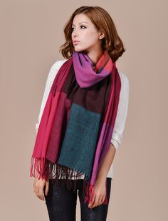 Morpheus Boutique  - Purple Teal Plaid Pashmina Wool Plaid Shawl Winter Long Scarf Wrap, $29.99 (http://www.morpheusboutique.com/purple-teal-plaid-pashmina-wool-plaid-shawl-winter-long-scarf-wrap/)