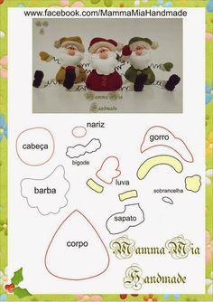 Artesanato Fofo: Papai Noel em Feltro