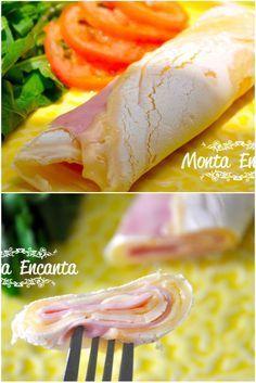 CREPIOCA panqueca de tapioca com queijo e presunto
