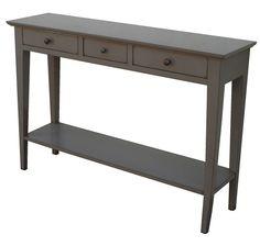 console 2 tiroirs + 1 étagère bois bicolore noir et naturel l120