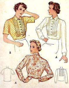 1930s Misses Blouse