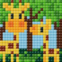 Giraffe cross stitch. Animal cross stitch.