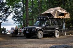 Land Rover Discovery II with Cascadia Vehicle Tent (Mt. Shasta) and Road Shower.