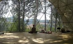 The geodesic dome at The Hill That Breathes is used for yoga, tai chi, chi kung and breathing workshops
