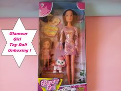 Glamour Girl Toy Doll Unboxing...And  Discover The Cute Little Girl & Pu...