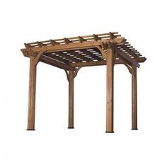 Turn your patio into a naturally shaded oasis by letting vines and roses grow across this pergola's arbors. This beautiful 10′ x 10′ pergola is made from 100% cedar. Sculptured beams criss-cross both directions and give it strength as well as flair. The four uprights are made from cedar, 5 1/2″ on a side. Our […]