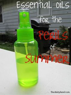 Essential Oils for the Perils of Summer~ insect repellant, bug bites, poison ivy, sunburns