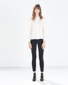ZARA - SALE - BIKER TROUSERS WITH ZIPS £15