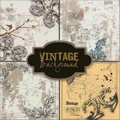 Free digital vintage backgrounds