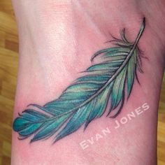 colorful feather tattoo - Google Search