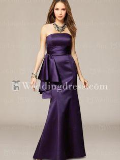 Elegant bridesmaid dress.