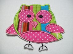 Iron On Applique  Polka Dot Owl by bigblackdogdesigns on Etsy, $3.99