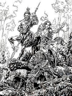 Batalha na floresta 2 by ricardoafranco.deviantart.com on @DeviantArt