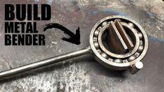 How to Make a Powerful Metal Bender Metal Bending Tools, Metal Working Tools, Metal Tools, Metal Art, Metal Fabrication Tools, Metal Bender, Diy Welding, Welding Tools, Garage Tools