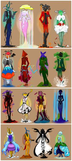 Anthropomorphic Representations of the Lands of Homestuck, by BEAR-PRINCESS [I don't know the first thing about Homestuck, but I love the art.]