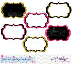 INSTANT DOWNLOAD pink and gold glitter by JessicaSawyerDesign, $3.00