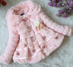 Pretty in Pink Furry Girls Coat