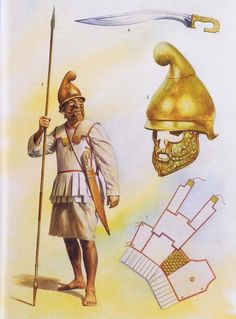 Carthaginian infantryman first and second Punic Wars period. The Lino-thorax…