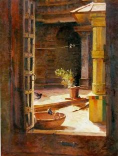 Courtyard-# Paresh Maity www.contemporaryart-india.com