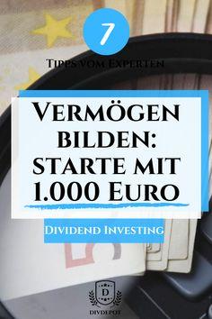 finance tips investing Mit 1000 Euro Vermgen bilde - Finance Blog, Finance Tips, Euro, Saving Money Quotes, Money Pictures, Savings Planner, Budget Planer, Investment Portfolio, Money Saving Challenge